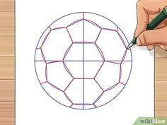 3 formas de dibujar una pelota de futbol - wikiHow