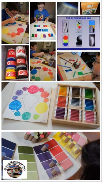 """Making Montessori Ours"": Montessori Spring Blog Hop!!!! Elements of Art - Colour Theory Unit"