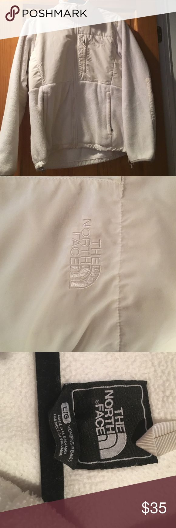 Jacket White north face used but really good condition North Face Jackets & Coats