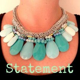 Bleu Statement Necklace