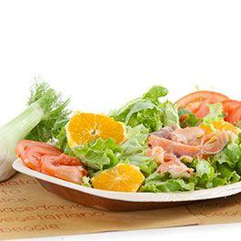 Insalata di salmone, arance e finocchio