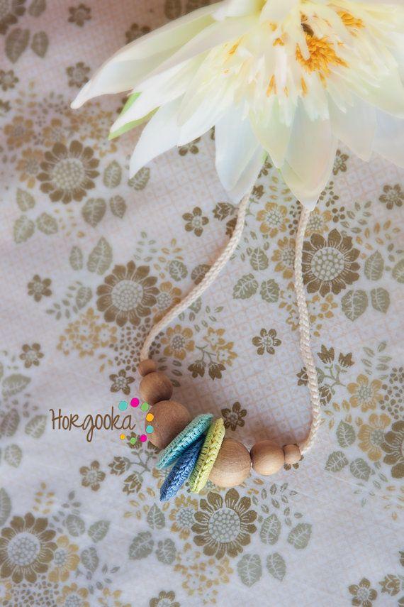 Wonderful teething necklace breastfeeding necklace by Horgooka, $24.00