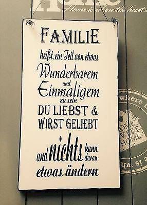 """""""Familie..""""Wandschild Deko Shabby Vintage – XYZ"""