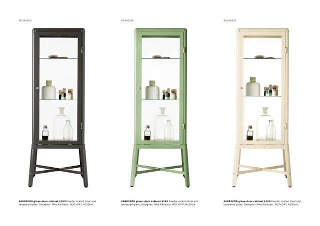 Ikea Drawers Gumtree Glasgow ~   glass door cabinet powder coated metal fabrikor glass door ikea curio
