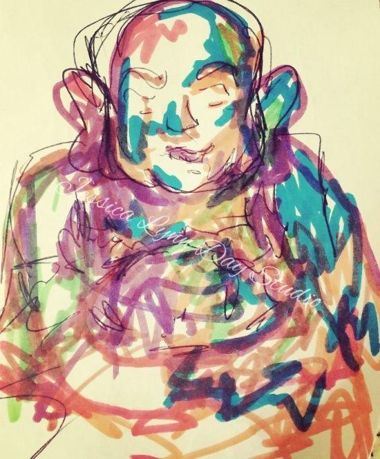 """Buddha Beauty"" by Jessica Lynn Day Studio"