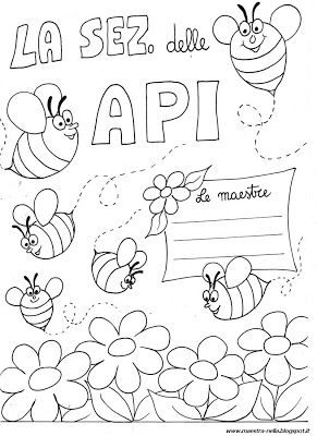 maestra Nella: eccole... api e farfalle, per la porta della sezio...
