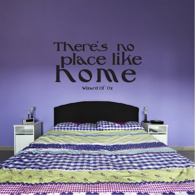 Thereu0027s No Place Like Home Wall Sticker Wizard Of Oz Wall Art