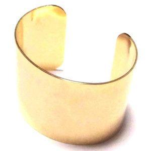 Yochi NEW YORK ヨキ ニューヨーク カフ wide dome cuff gold バングル ゴールド ワイド ブレスレット レディース シンプル ブランド|beautejapan
