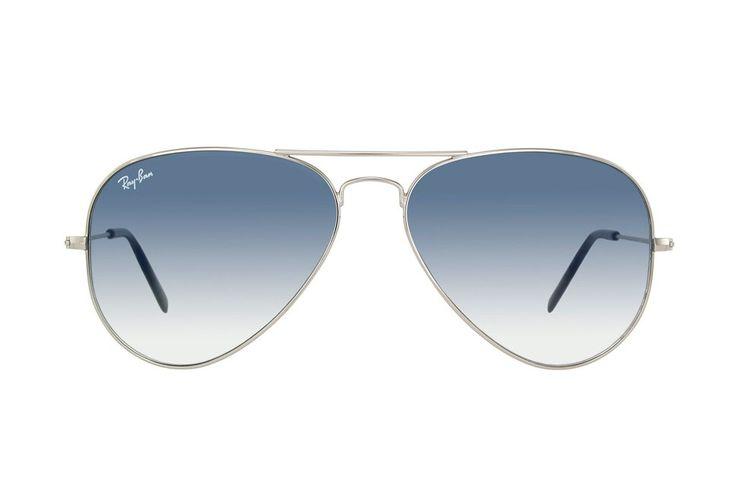 Солнцезащитные очки Ray Ban Aviator (серый градиент, серебряная оправа)
