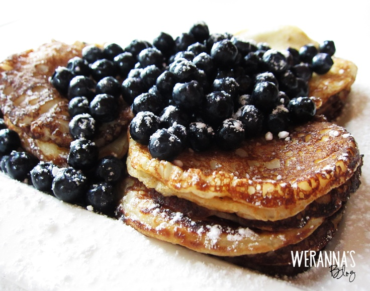 Finnish pancakes with blueberries