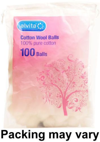 #Cotton Wool Balls White Pack of 100