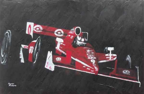 Scott Dixon, Dallara Honda. Indycar series. www.kieranrobertsart.com