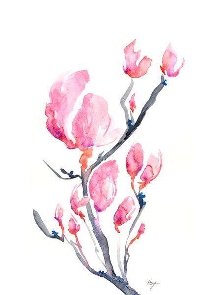 Japanese magnolias #watercolor #tattoo