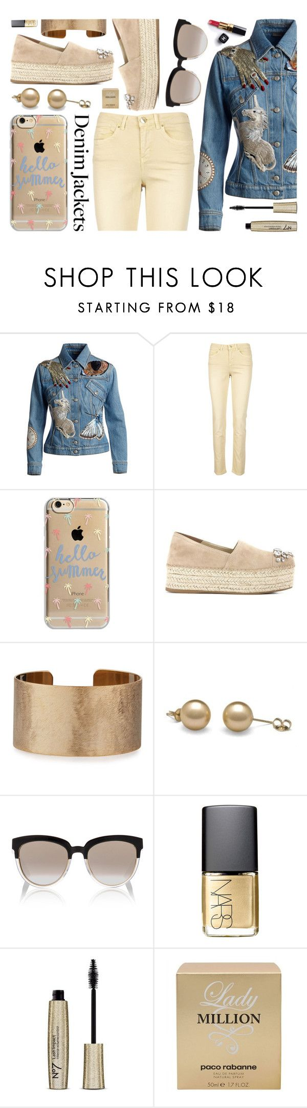 """""""style denim jackets"""" by sandevapetq ❤ liked on Polyvore featuring Alexander McQueen, Sud Express, Agent 18, Miu Miu, Panacea, Christian Dior, Chanel, NARS Cosmetics and Paco Rabanne"""