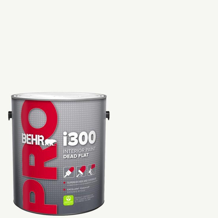 Behr Pro 1 Gal I300 White Base Dead Flat Interior Paint Pr31001 The Home Depot Interior Paint Flat Interior Interior