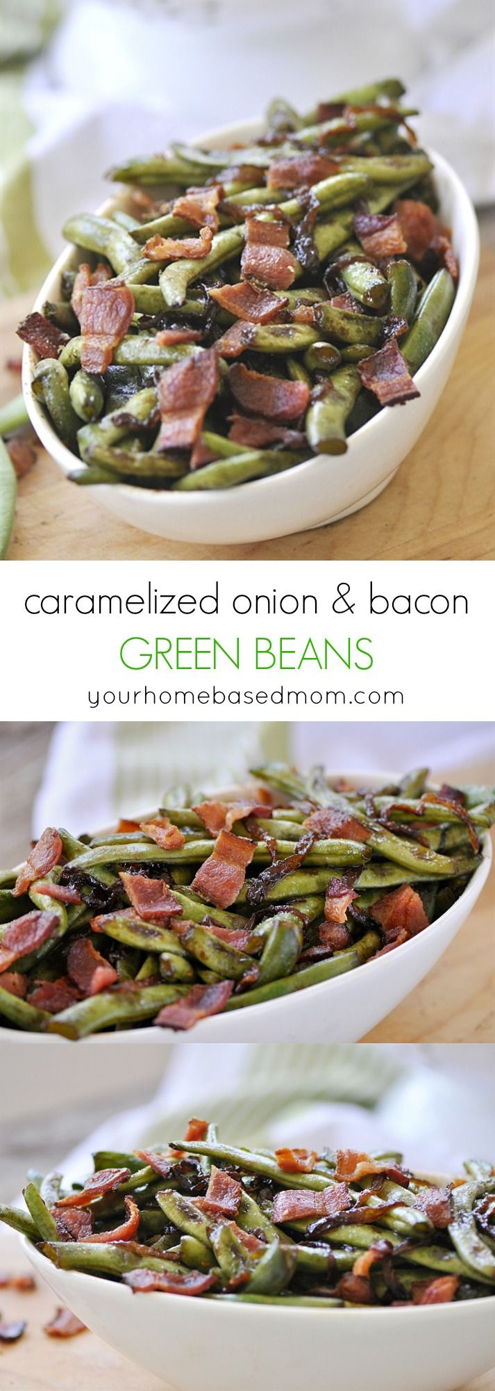 Caramelized Onion and Bacon Green Beans | Recipe | Green ...