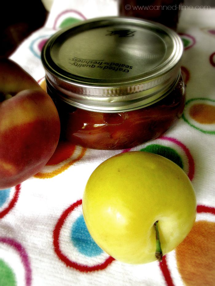 30 Minute Peach & Yellow Plum Jam from Canned-Time.com