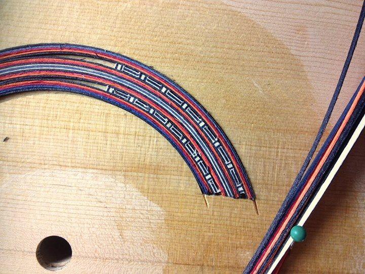 Tentative rosette component assembly without glue.  Custom order by master luthier Florian Vorreiter.  www.vorreiterguitars.com
