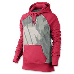 Women's Nike All Time Pullover Hoodie| FinishLine.com | Fusion Red/Armory Navy