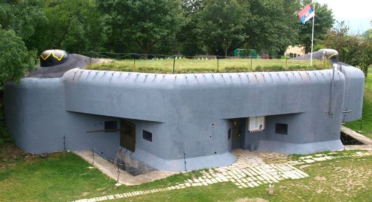 fortification bunker on the borders with Austria
