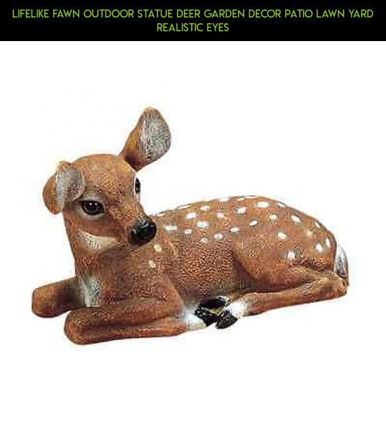 Lifelike Fawn Outdoor Statue Deer Garden Decor Patio Lawn Yard Realistic Eyes #camera #products #fpv #tech #gadgets #shopping #plans #parts #racing #decor #outdoor #deer #technology #kit #drone