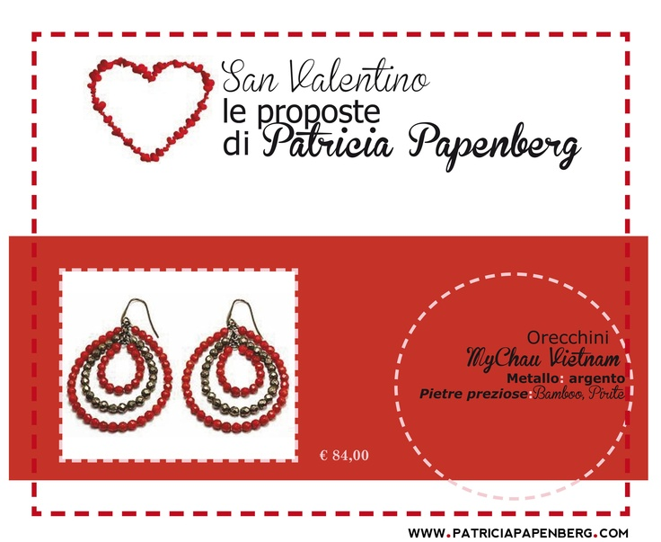 Orecchini  MyChau Vietnam  http://www.patriciapapenberg.com/it/mychau-vietnam-earings-red  #orecchini #mychau #earings #jewels #gioielli