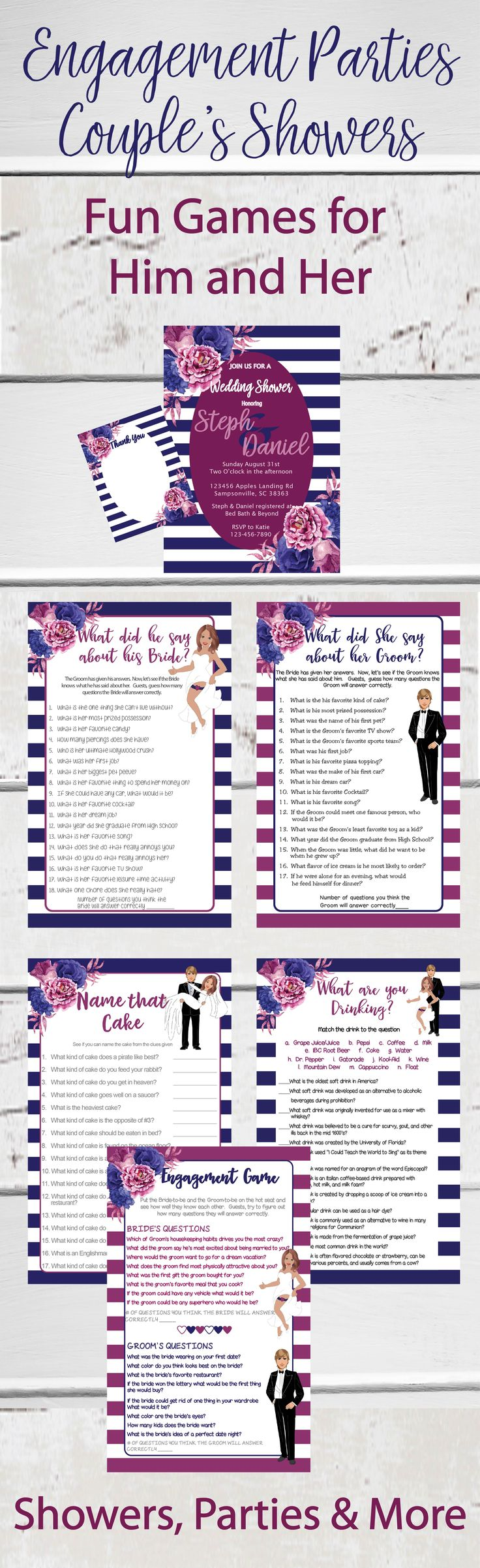24 Best Bridal Shower Invitations Images On Pinterest Bridal