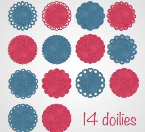 free studio cut files » Shape 05: Doilies by Nilmara Quintela - Silhouette Brasil