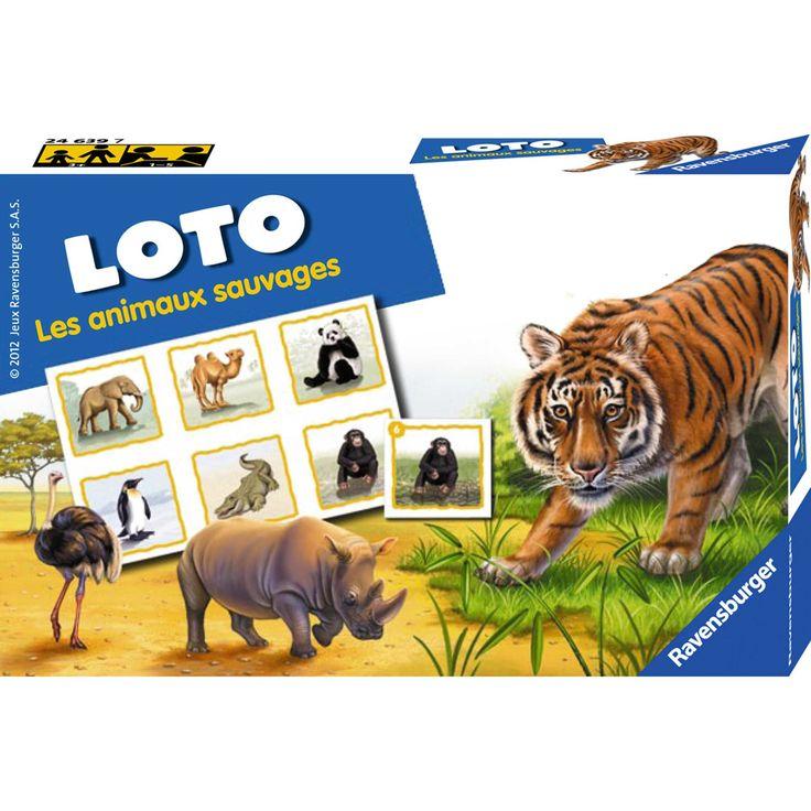 Bingo animales salvajes 'Ravensburger'                             blanco Chico