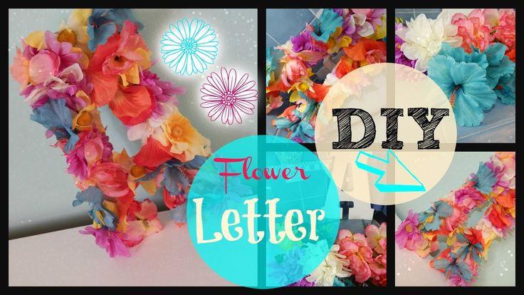 DIY Flower Letter #flowerwoodenletter