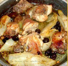 Coniglio con finocchi e olive nere, un secondo squisito