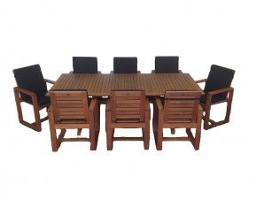 Heritage Teak Finish Outdoor Furniture Setting