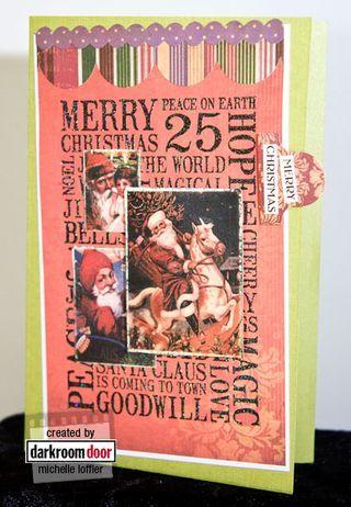 Card by Michelle Loffler using Darkroom Door Christmas Word Block Stamp and Dear Santa Montage images.