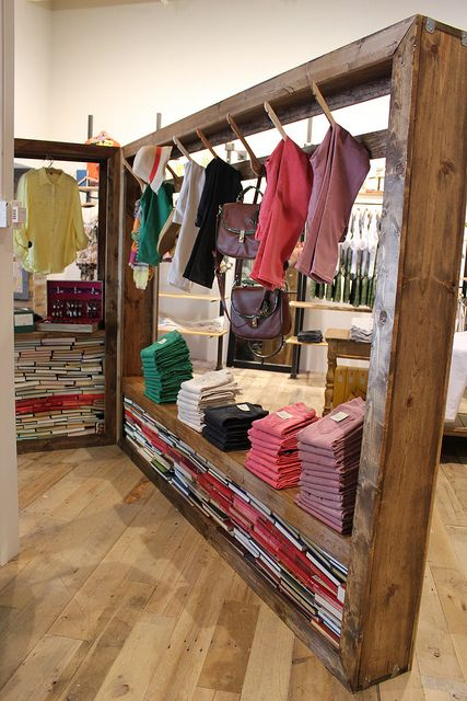 Visual merchandising display wooden racks display for New ideas for retail stores