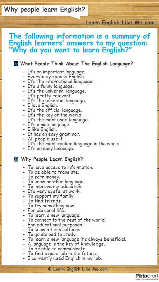 In this post I share with you the answers that a lot of English learners gave me when I asked them: Why people learn English?