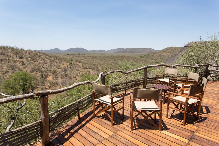 Buffalo Ridge Safari Lodge at Madikwe Game Reserve, South Africa. It's a community owned lodge and a nice place to stay. Friendly and caring staff, nice rooms and a perfect view from the deck.