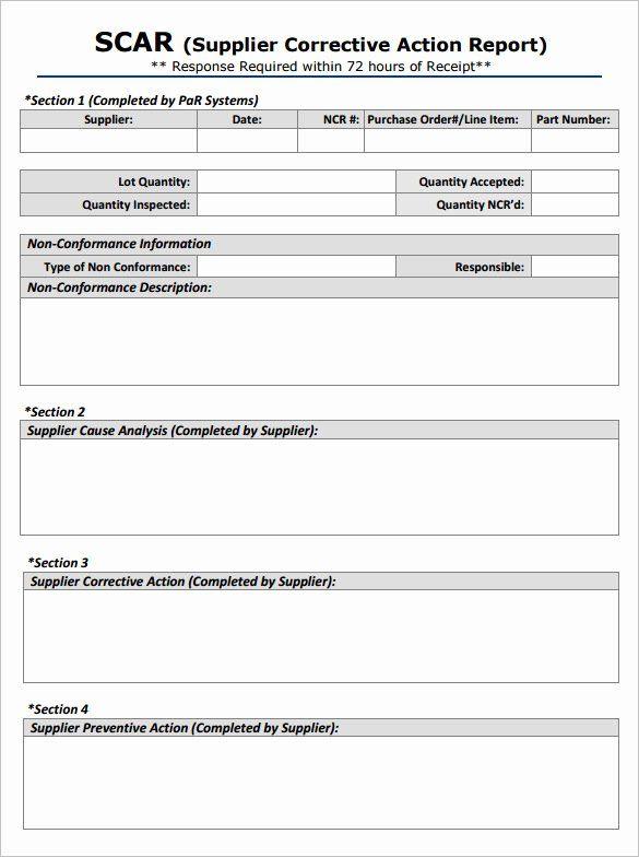 Corrective Action Preventive Action Template Elegant Corrective Action Form Template Word Templates Resu Action Plan Template Report Template Business Template