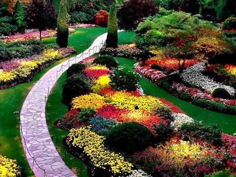 Büyüleyici bahçe sanatı..