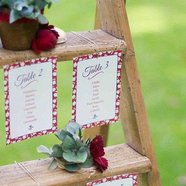 Un joli plan de table cr par event of paper sur nos - Plan de table en bois ...