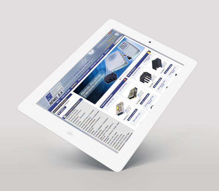 Diseño de Pagina Web Electronica Senel implementado en CMS Joomla