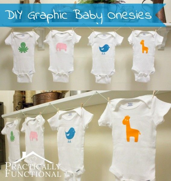 virtual baby shower diy baby animal graphic onesies