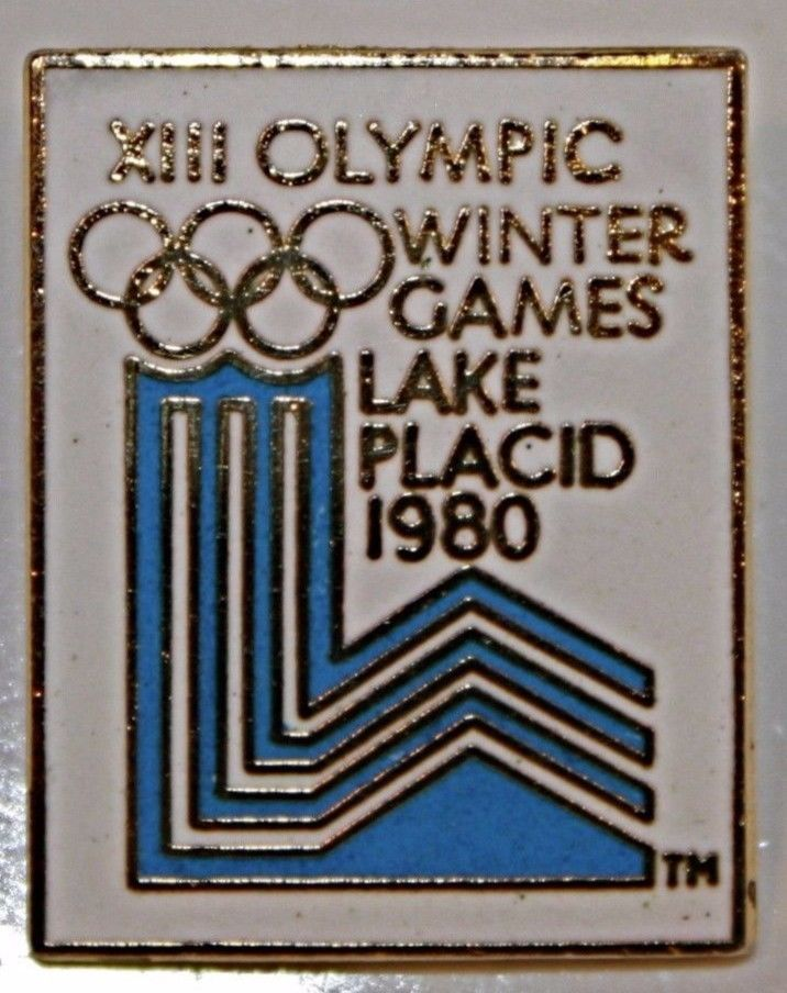 OLYMPIC PIN 1980 Lake Placid Winter Olympics  Miracle on Ice  P&P 1979