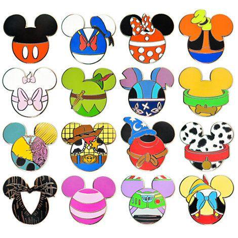 Disney Mickey Mouse Icon Mystery Pin Set - 5-Pc   Disney Store