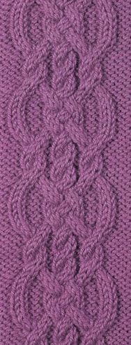 cable de tejer-patrón-chart - knitting cable pattern - chart