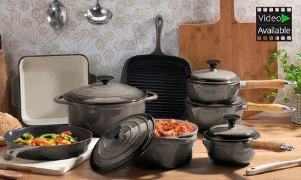 5-piece cooks professional pan set Cream