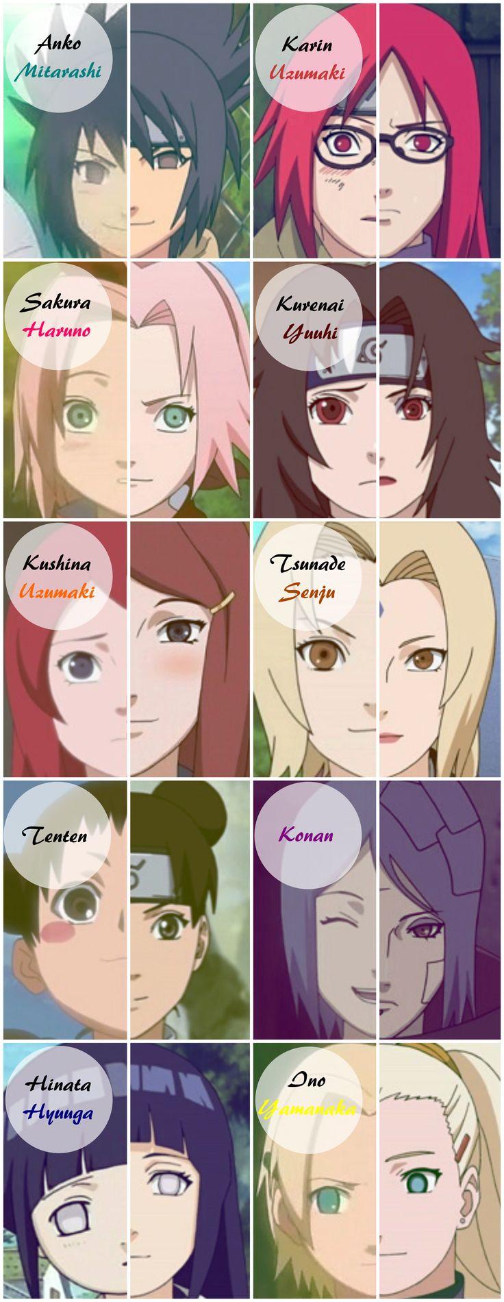 Anime/manga: Naruto / Naruto: Shippuden [Mitarashi Anko / Uzumaki Karin / Haruno Sakura / Yuuhi Kurenai / Uzumaki Kushina / Senju Tsunade / Tenten / Konan / Hyuuga Hinata / Yamanaka Ino]