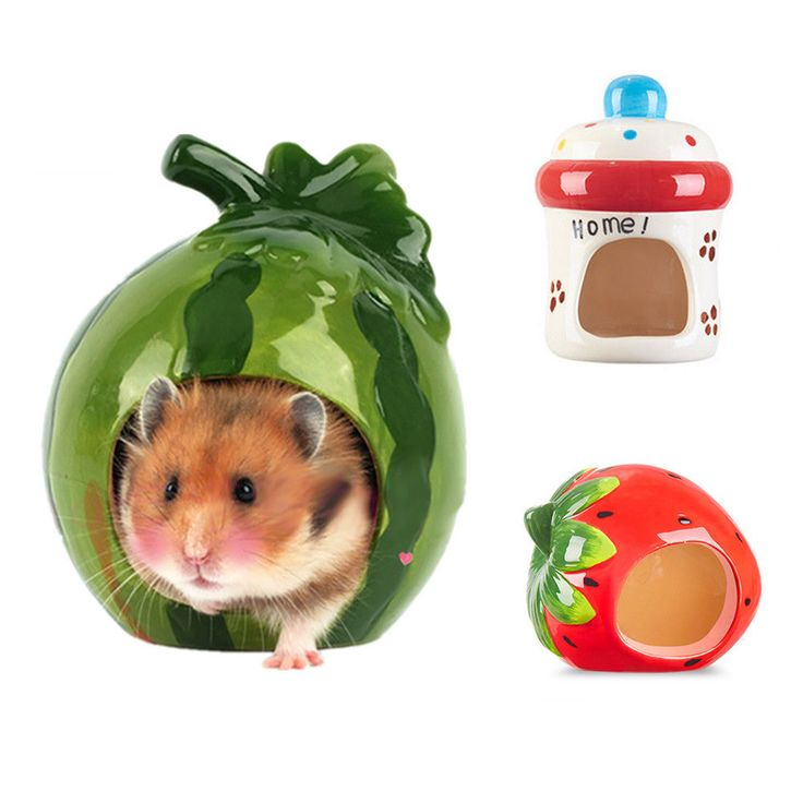 Small Animal Pet Hamster Cool Bed Ceramic House Nest Mouse Hedgehog Rat for Cage