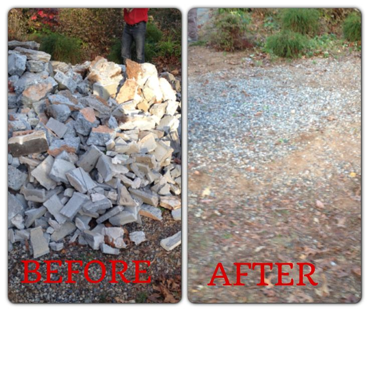 Why do all the back-breaking labor of removing concrete bricks by yourself when you can hire Junk King Atlanta to do it for you. Check out this junk removal!! Call Junk King Atlanta for all your junk removal needs at at 1-888-888-JUNK or book online at www.junk-king.com #junk #junkremovalatlanta #junkremoval #junkremovalservice