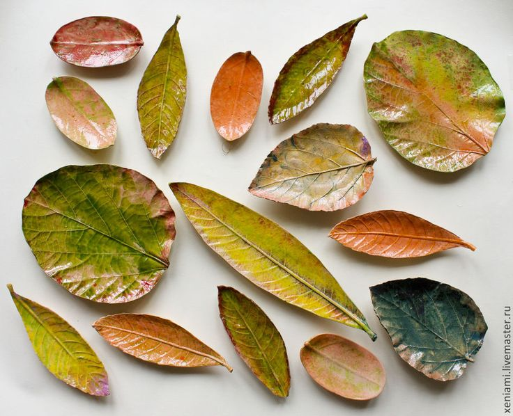 """Купить Тарелки """"Осенние листья"""" - оранжевый, тарелка ручной работы, тарелка на стену, глиняная тарелка"""