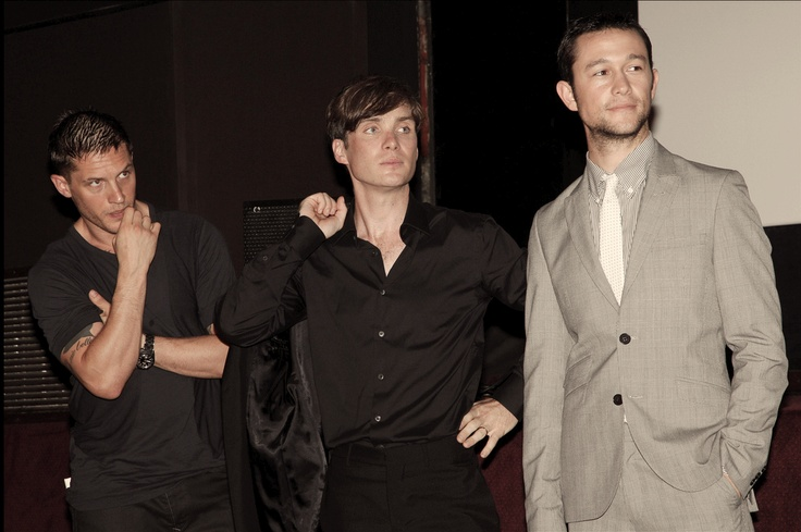 Tom Hardy, Cillian Murphy, and Joseph Gordon Levitt